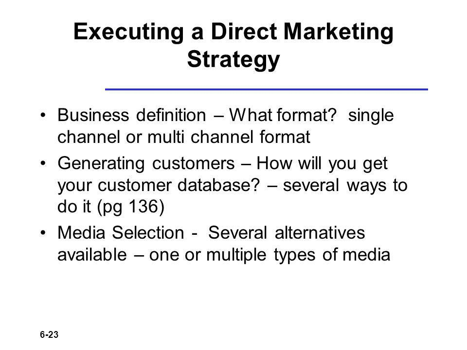Executing a Direct Marketing Strategy