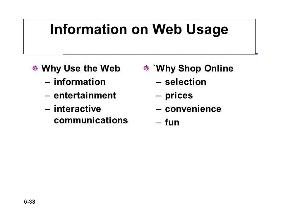 Information on Web Usage
