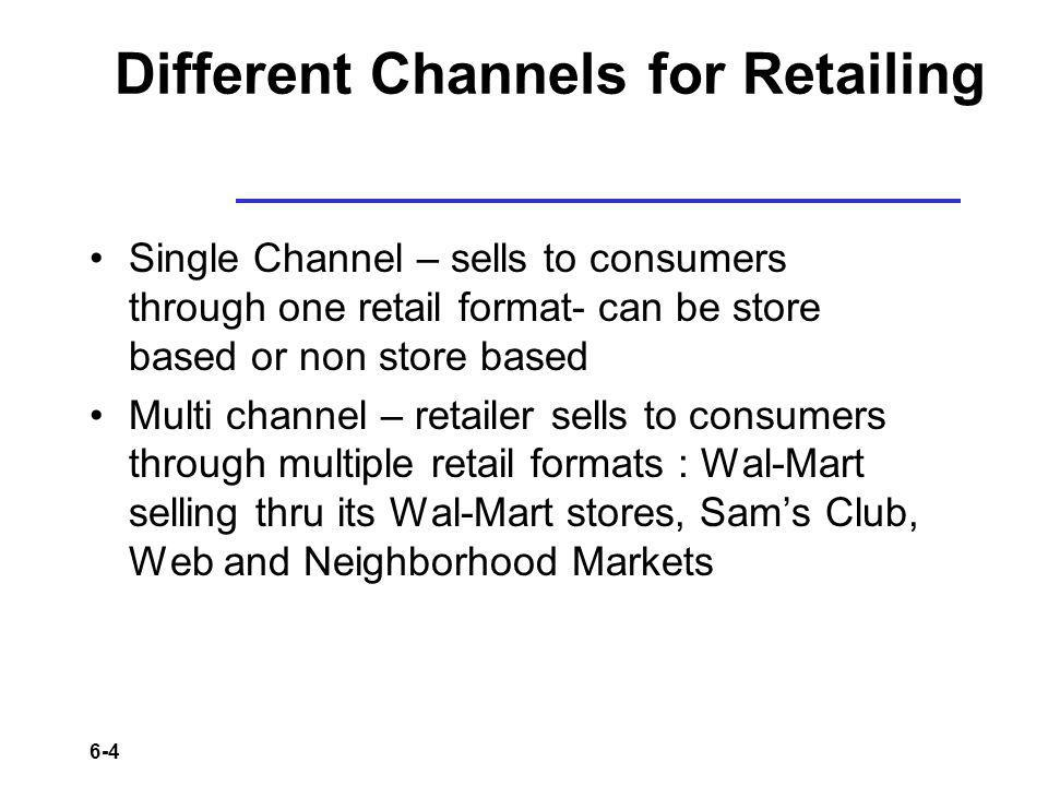 Different Channels for Retailing