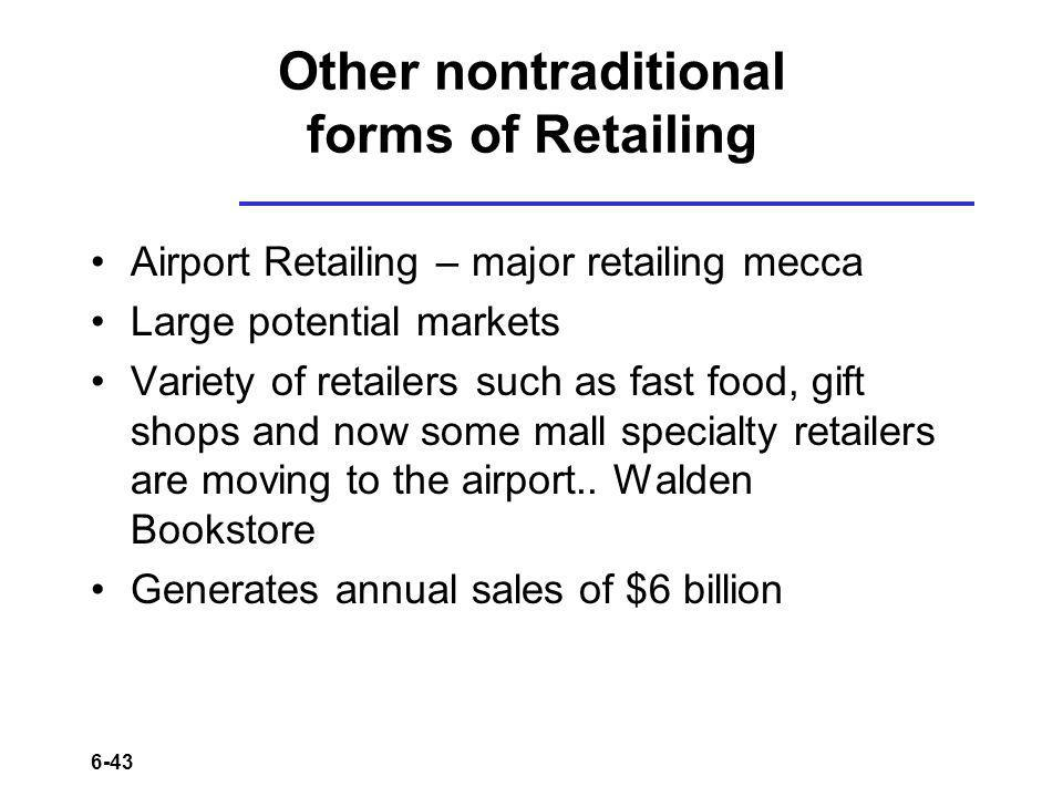 Other nontraditional forms of Retailing