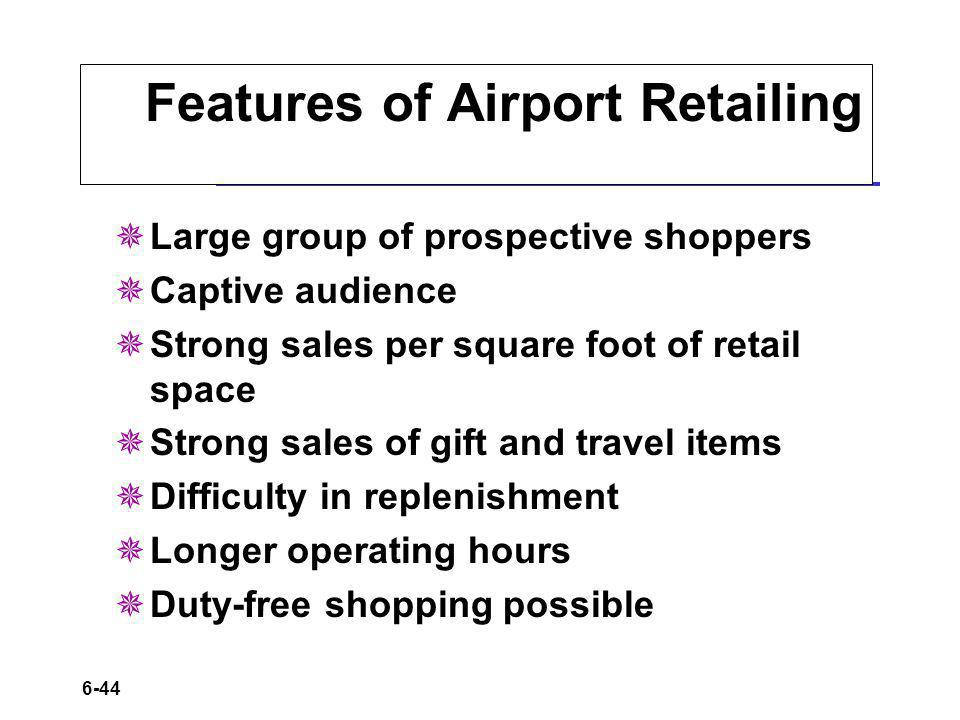Features of Airport Retailing