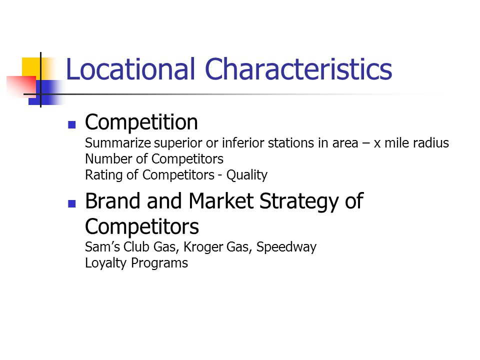 Locational Characteristics