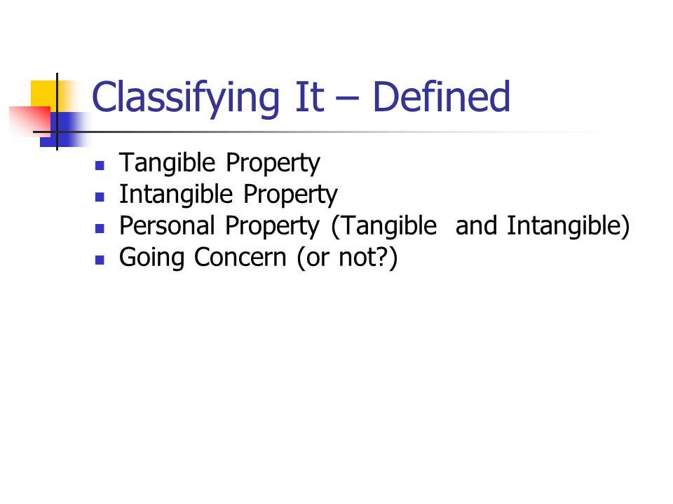 Classifying It – Defined