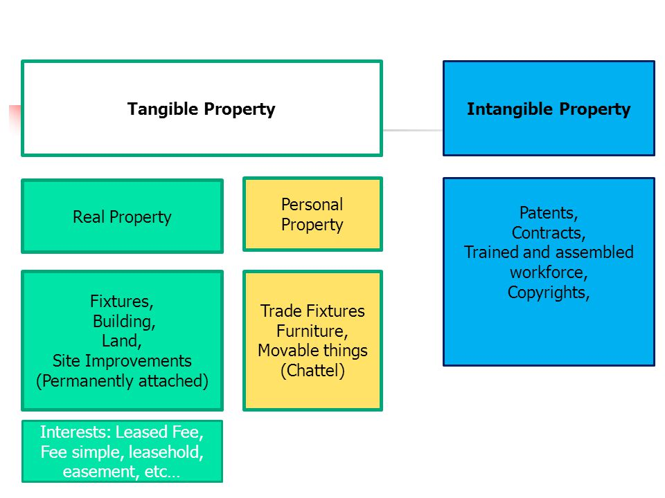 Tangible Property Intangible Property