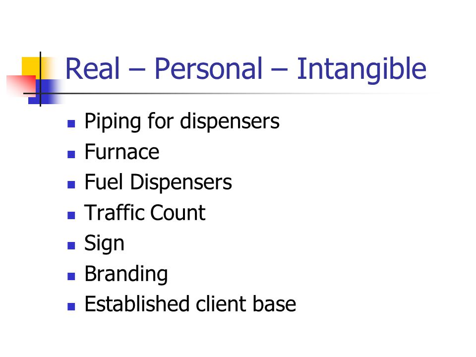Real – Personal – Intangible