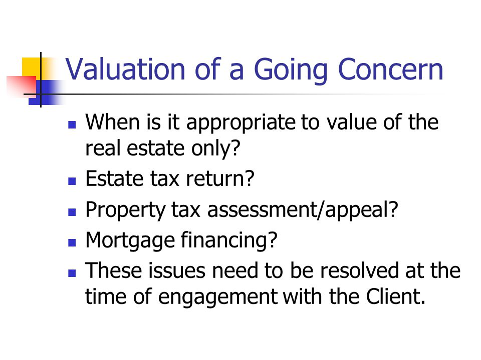 Valuation of a Going Concern