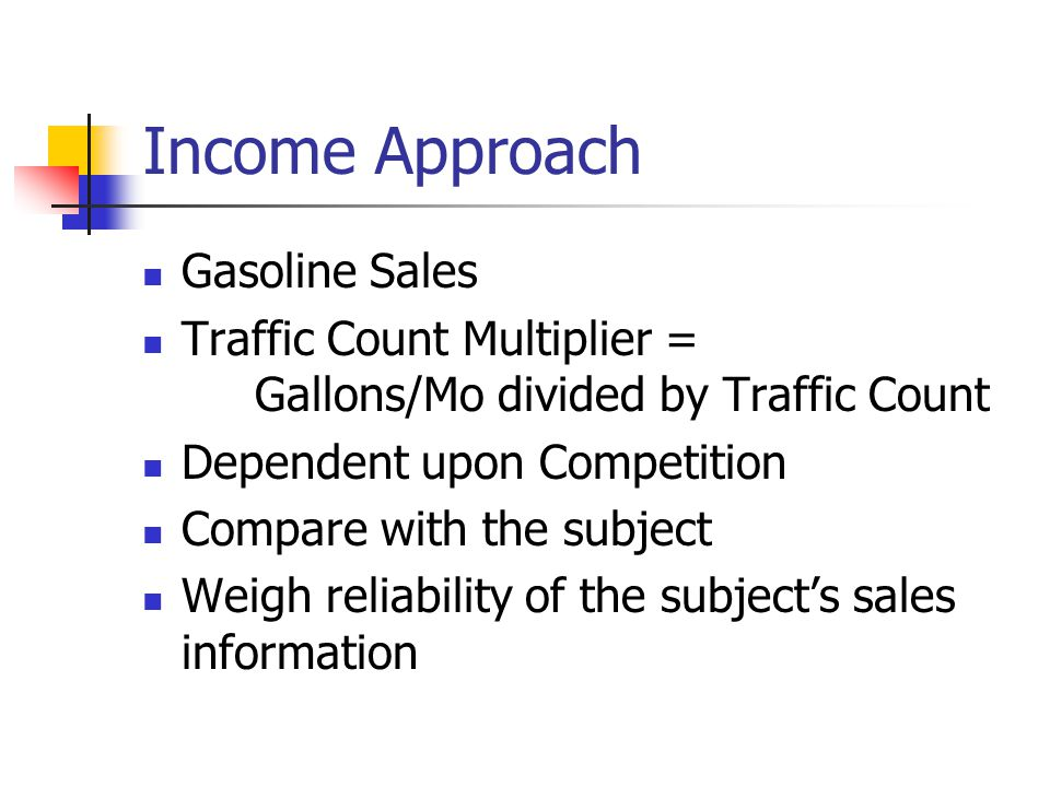 Income Approach Gasoline Sales