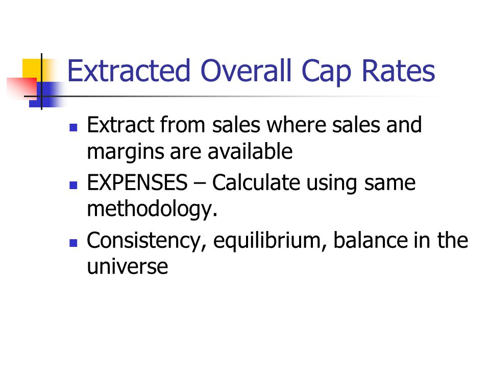 Extracted Overall Cap Rates