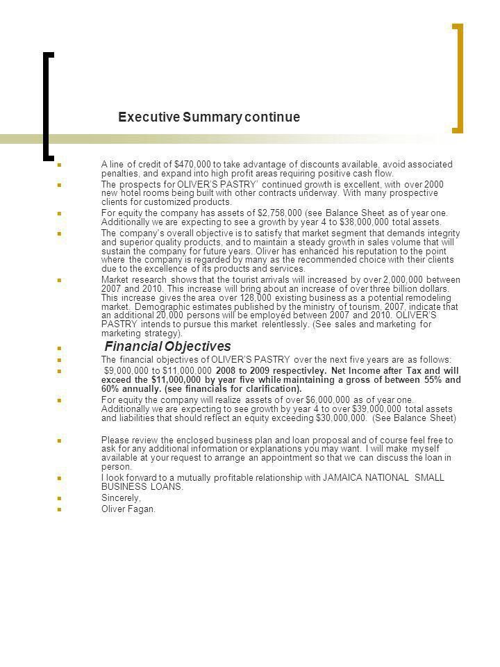 Executive Summary continue