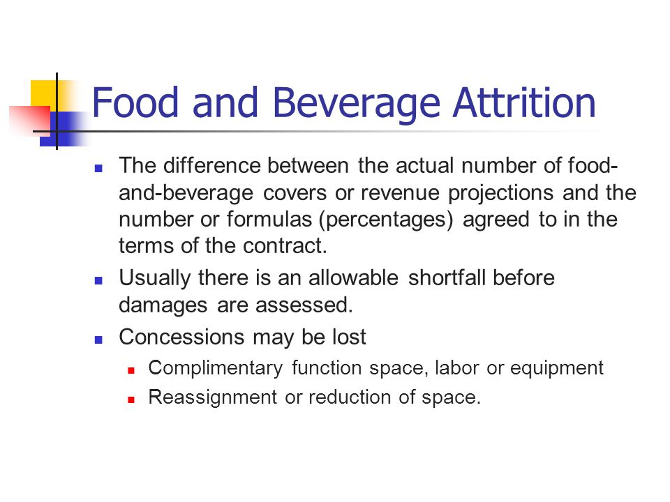 Food and Beverage Attrition