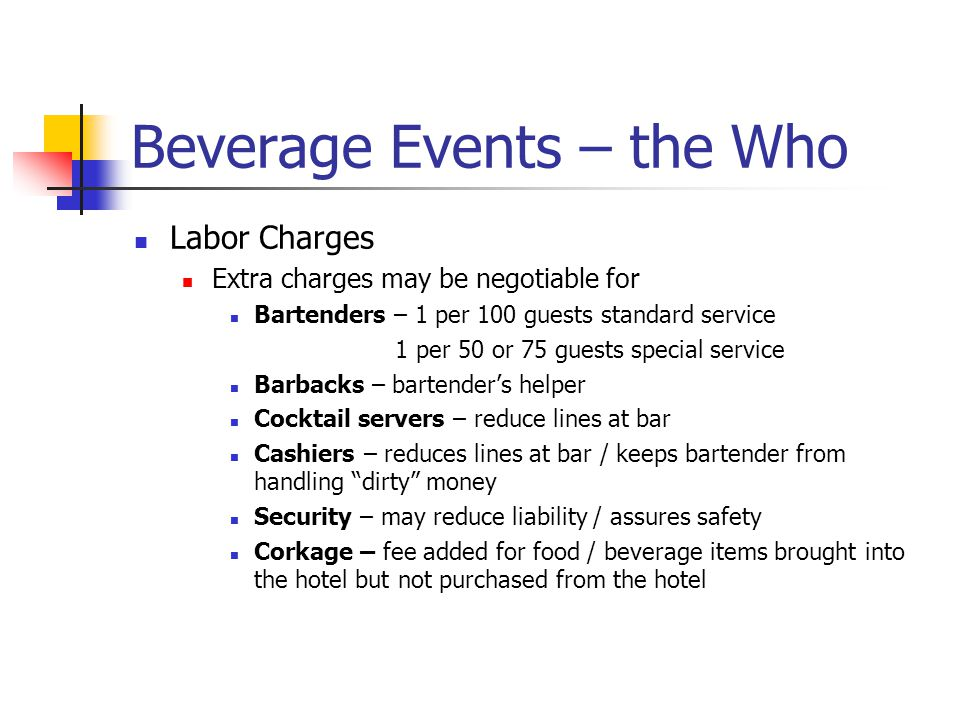 Beverage Events – the Who