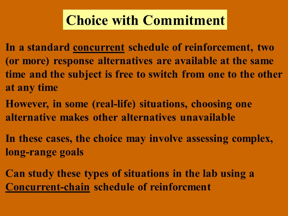 Choice with Commitment