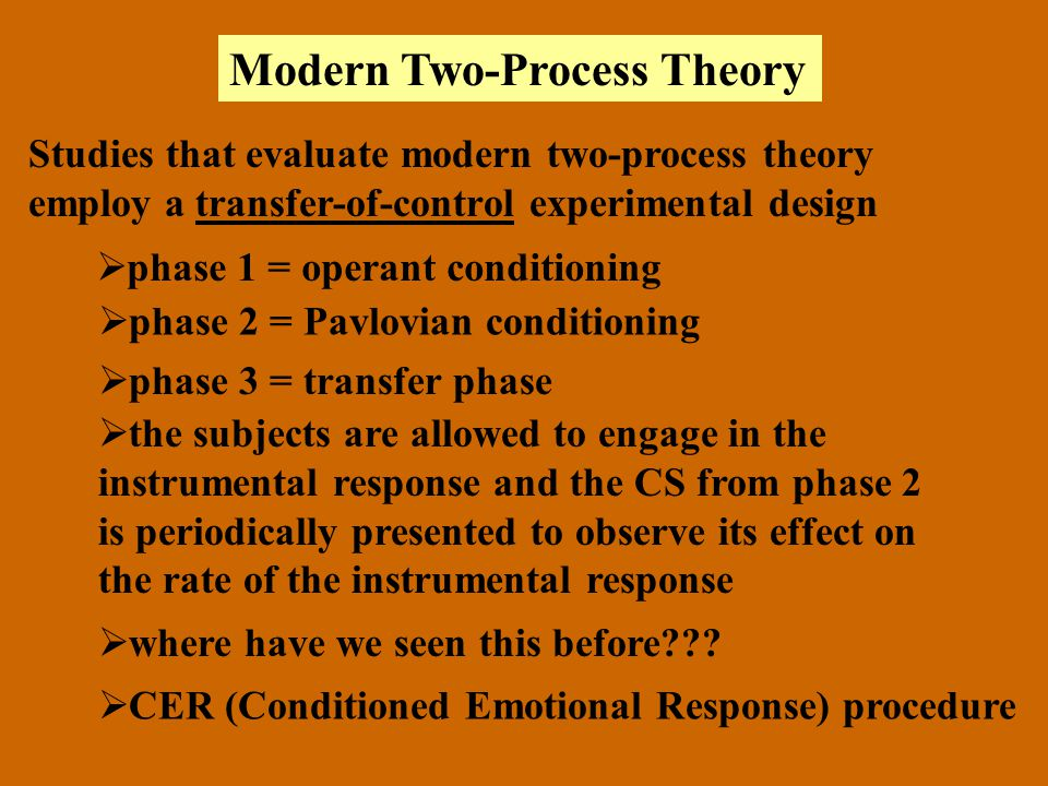 Modern Two-Process Theory