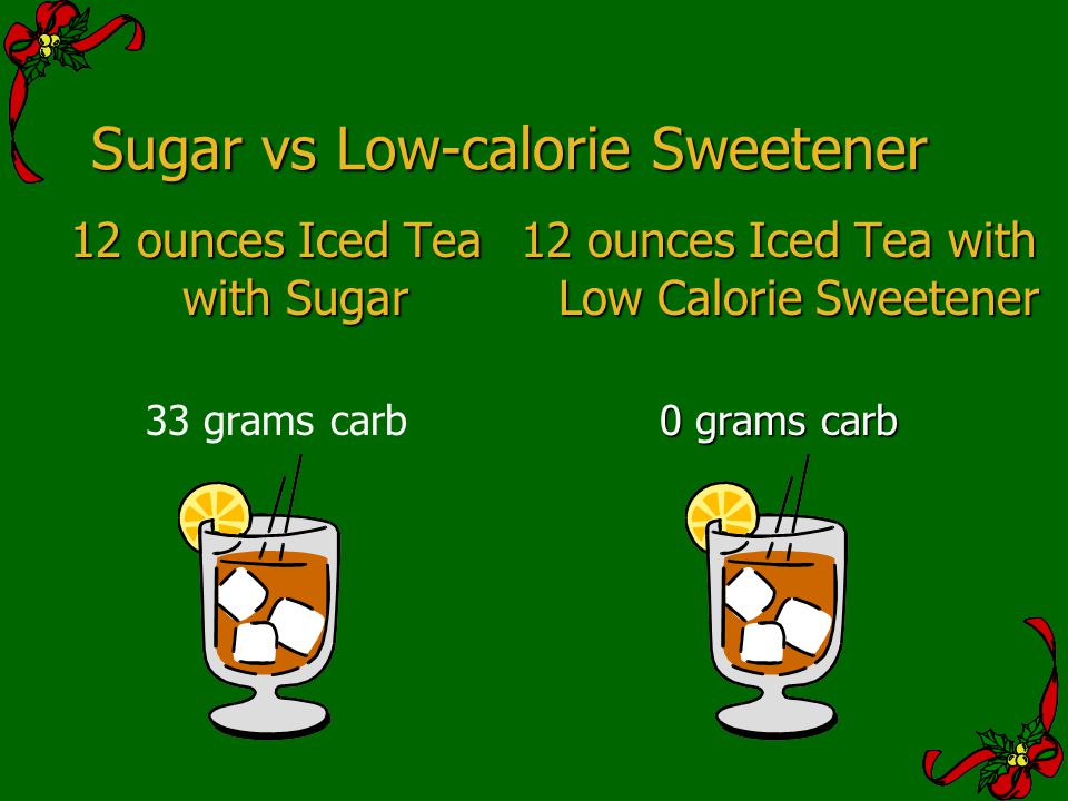 Sugar vs Low-calorie Sweetener