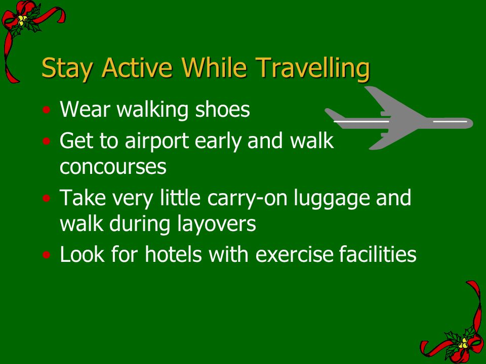 Stay Active While Travelling