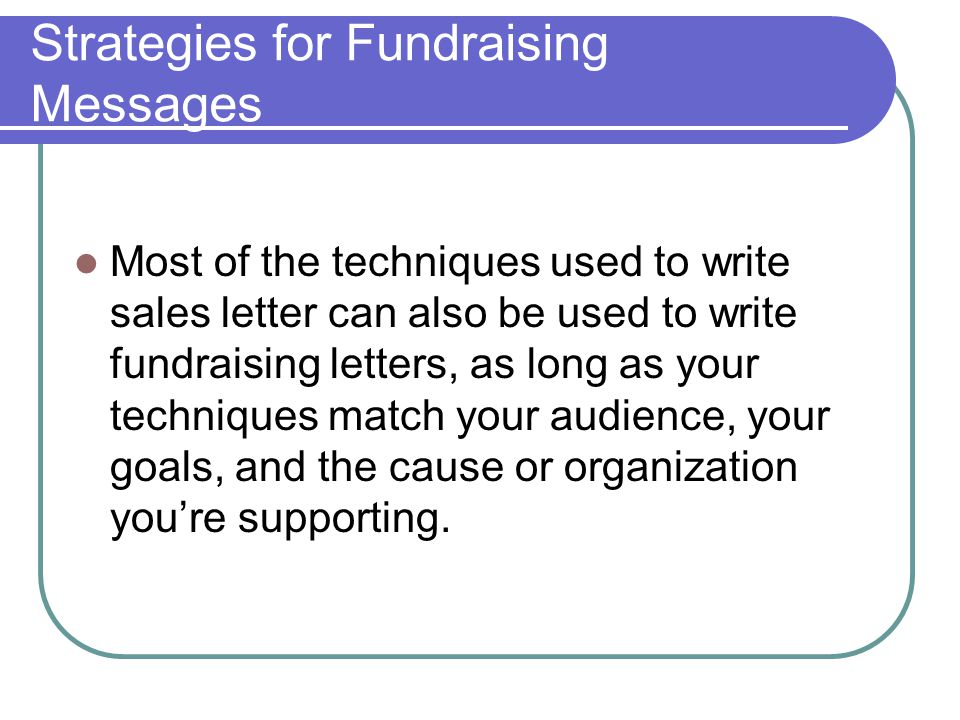 Strategies for Fundraising Messages