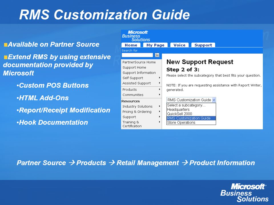RMS Customization Guide