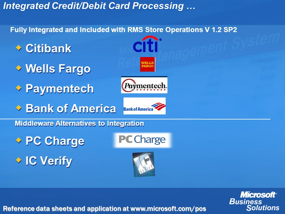 Integrated Credit/Debit Card Processing …