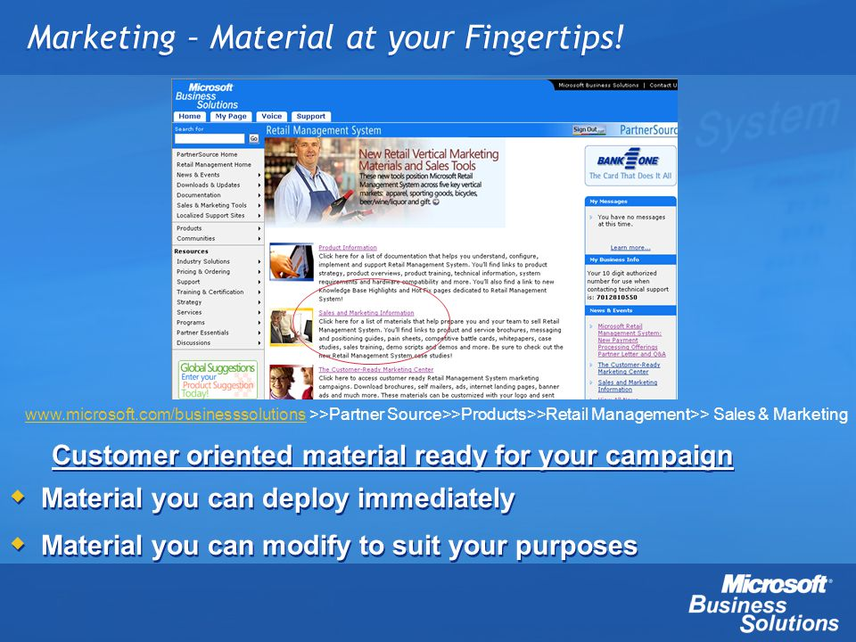 Marketing – Material at your Fingertips!