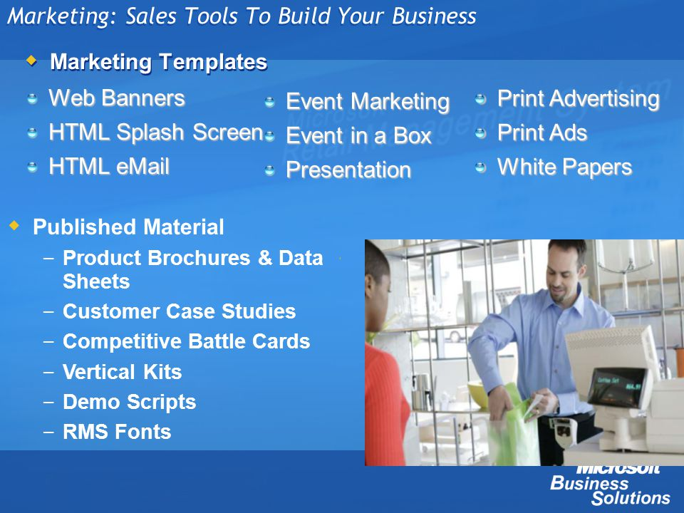 Marketing: Sales Tools To Build Your Business