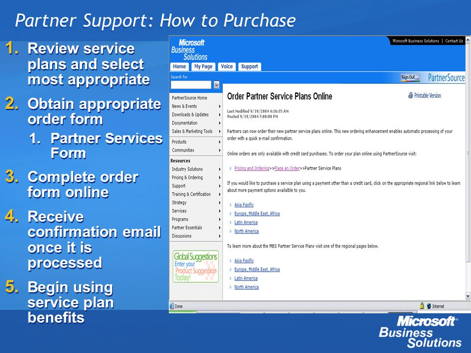 Partner Support: How to Purchase