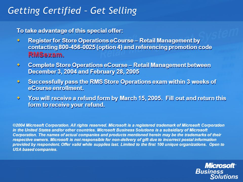 Getting Certified – Get Selling