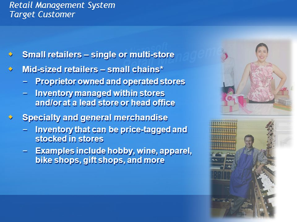 Retail Management System Target Customer