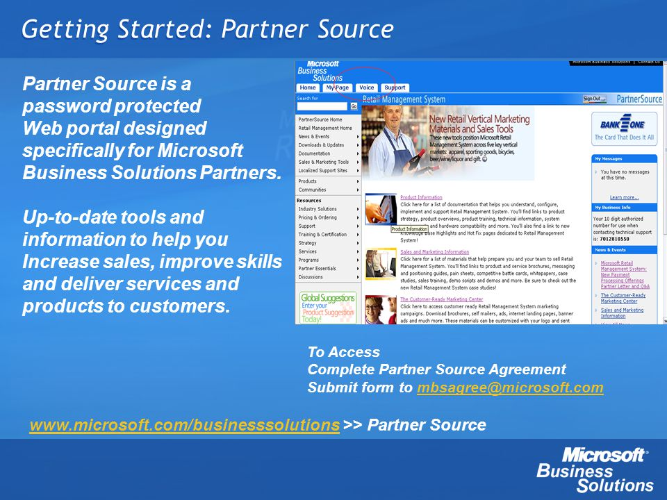Getting Started: Partner Source