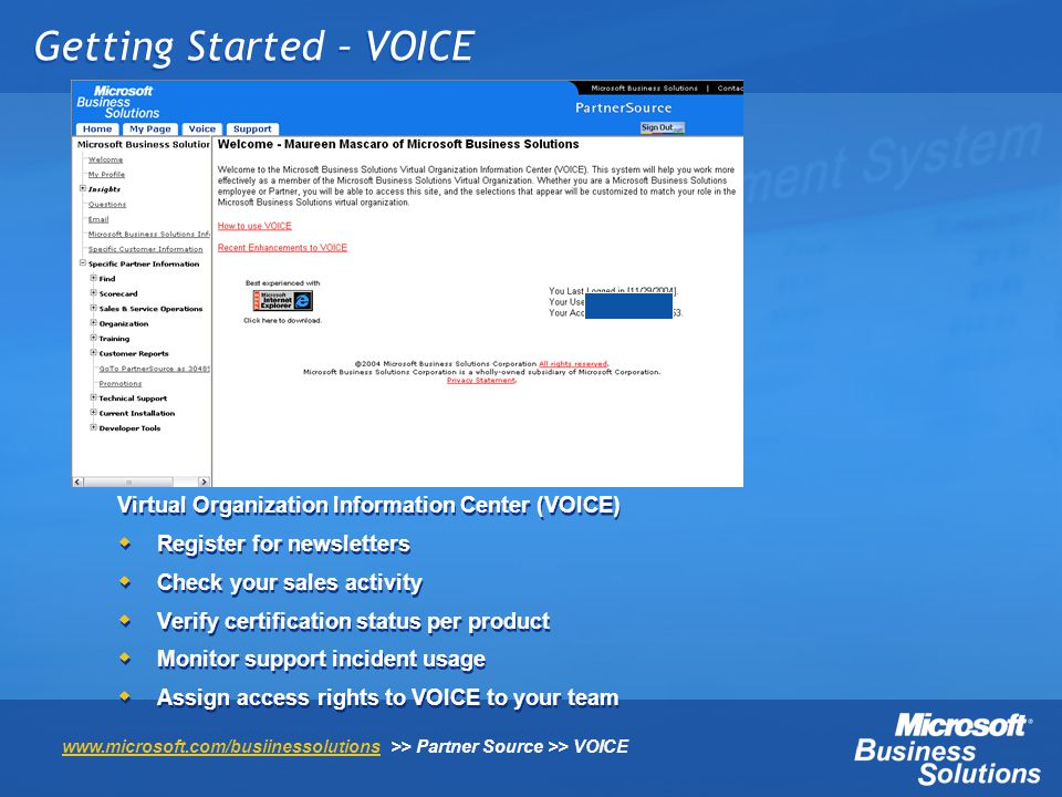 Getting Started – VOICE