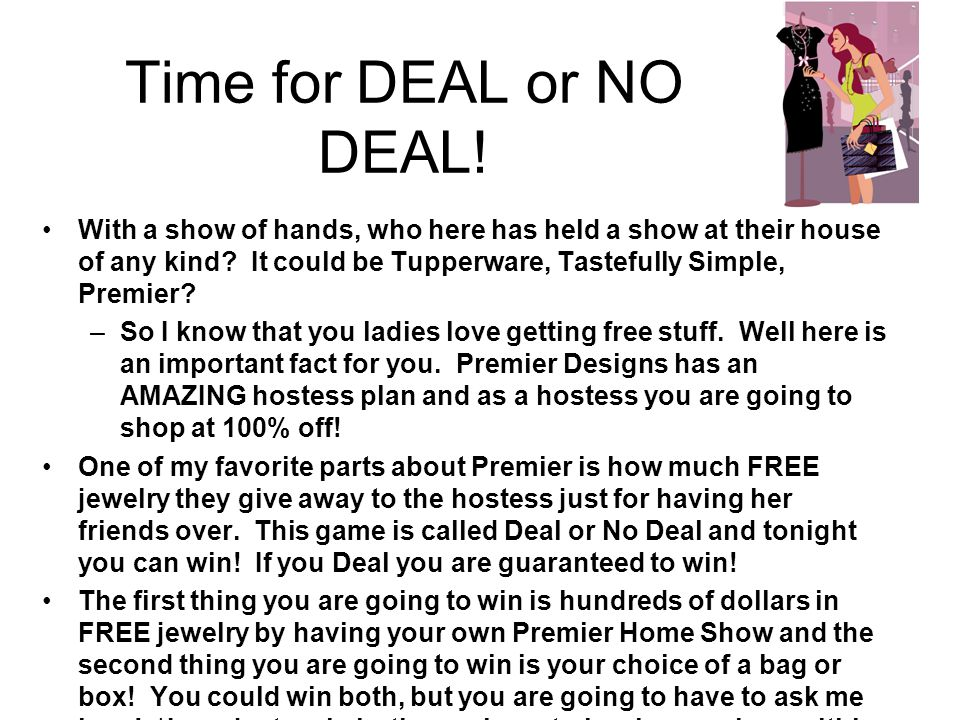 Time for DEAL or NO DEAL!