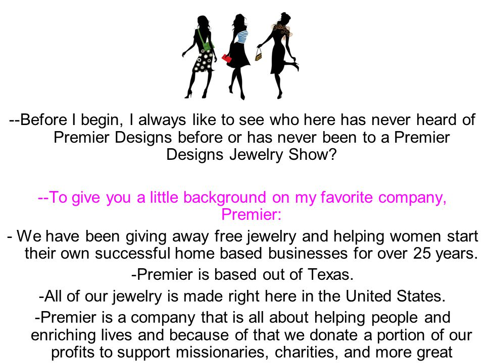 --To give you a little background on my favorite company, Premier: