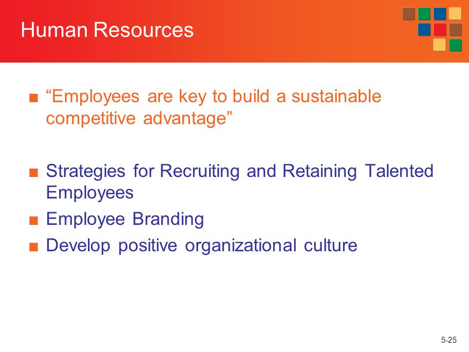 Human Resources Employees are key to build a sustainable competitive advantage Strategies for Recruiting and Retaining Talented Employees.