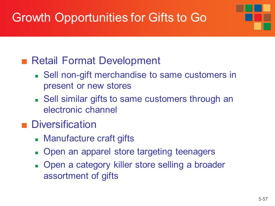 Growth Opportunities for Gifts to Go
