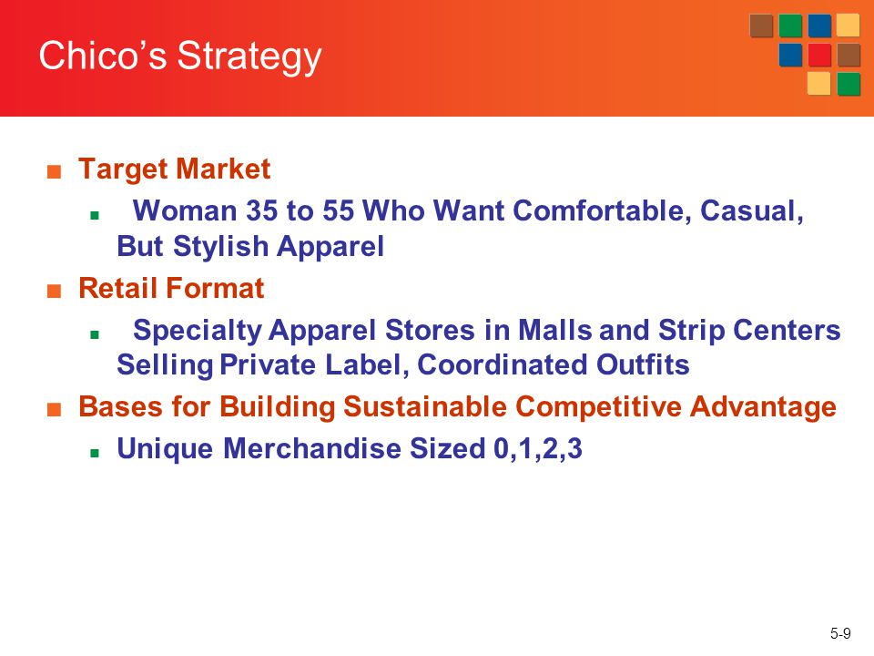 Chico's Strategy Target Market