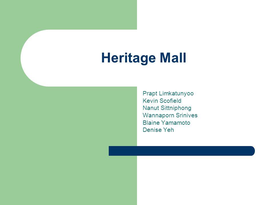 Heritage Mall Prapt Limkatunyoo Kevin Scofield Nanut Sittniphong