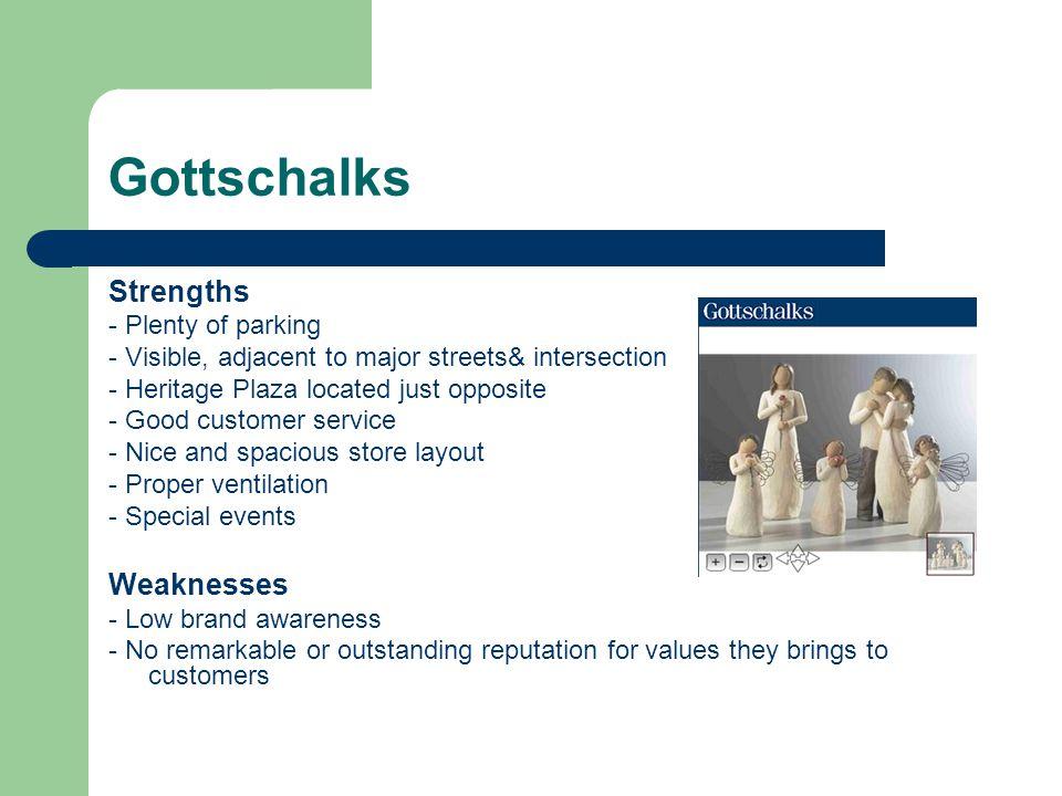 Gottschalks Strengths Weaknesses - Plenty of parking