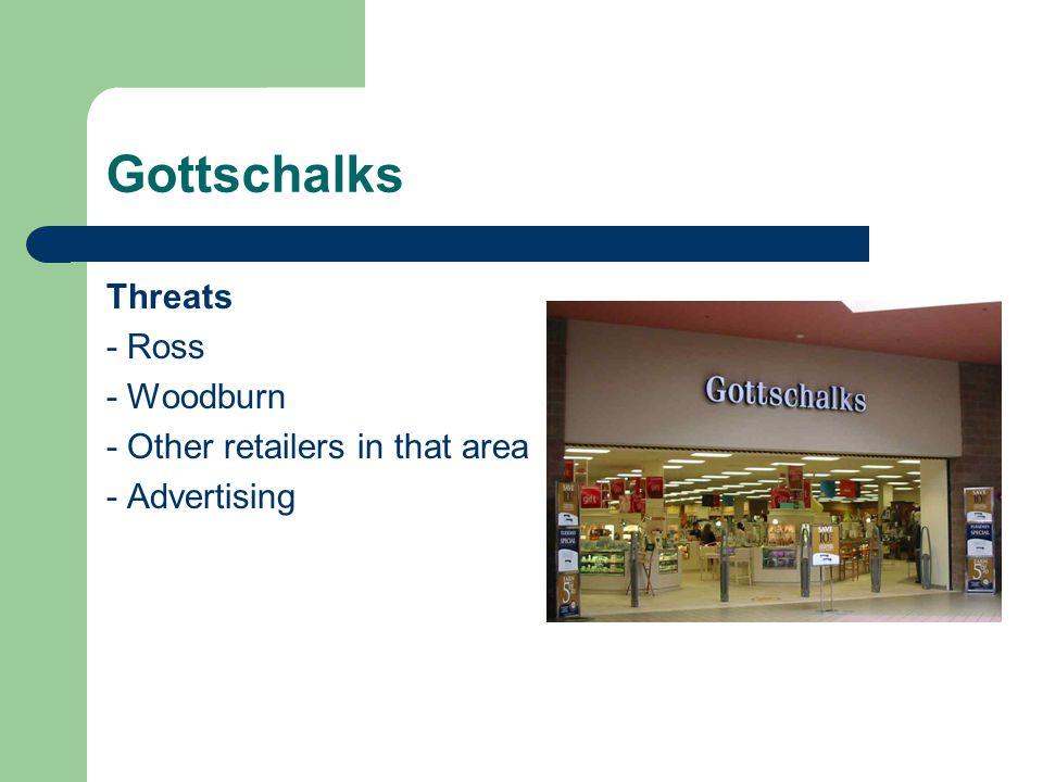 Gottschalks Threats - Ross - Woodburn - Other retailers in that area