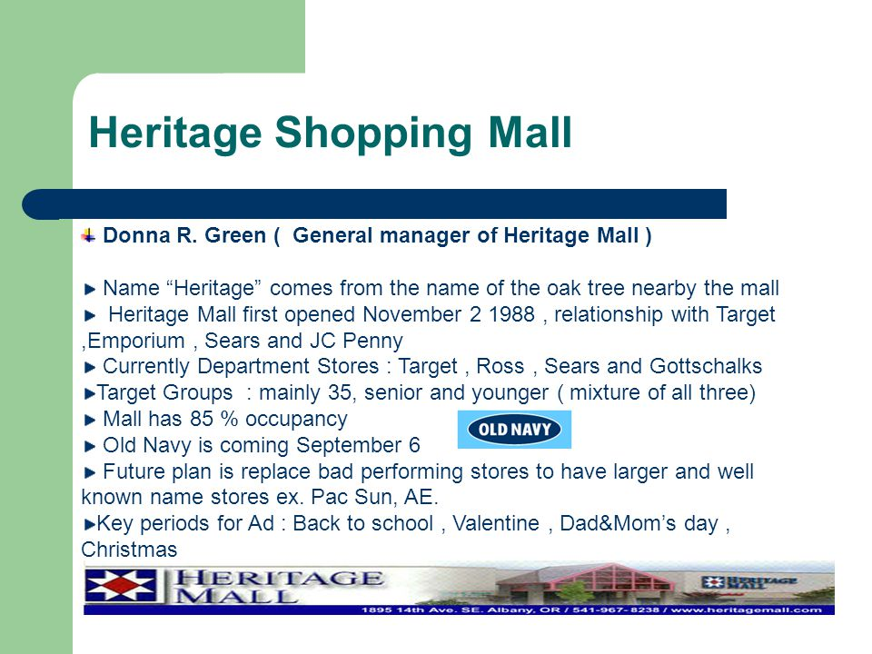 Heritage Shopping Mall