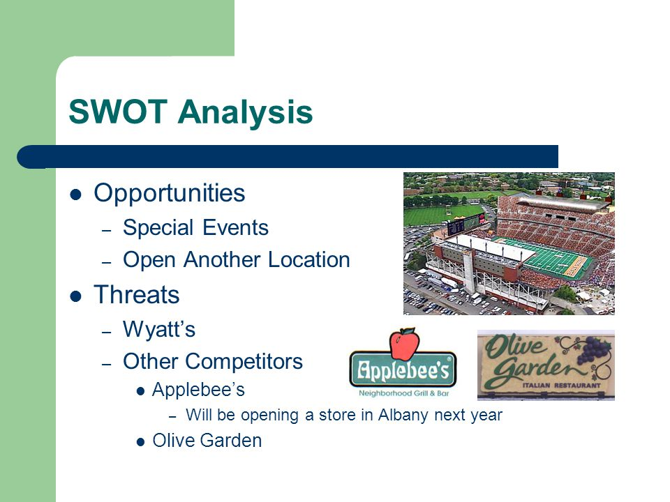 SWOT Analysis Opportunities Threats Special Events