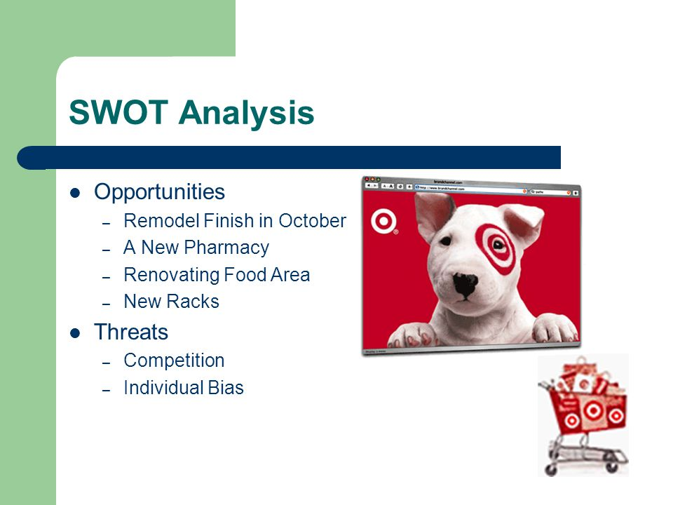 SWOT Analysis Opportunities Threats Remodel Finish in October