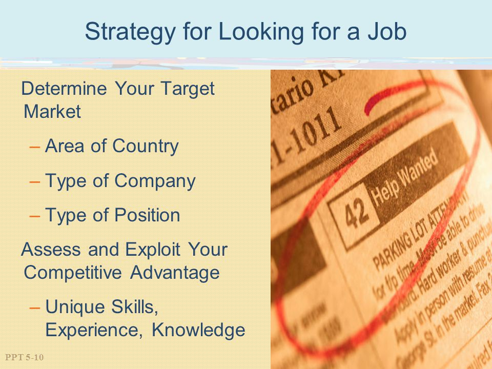 Strategy for Looking for a Job