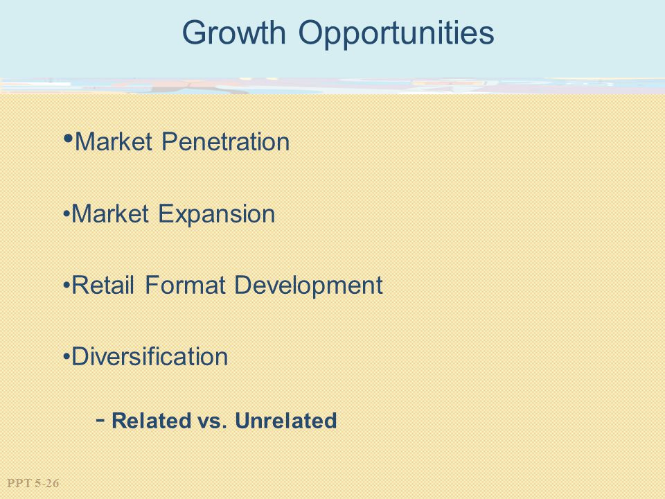Growth Opportunities Market Penetration Market Expansion