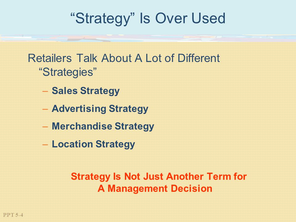 Strategy Is Over Used