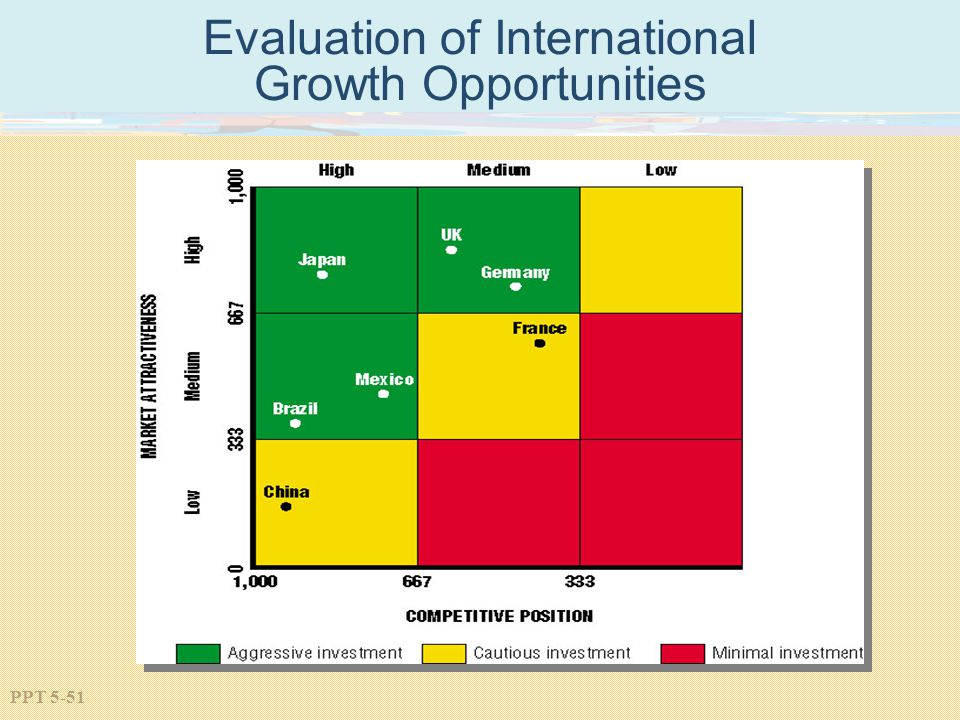 Evaluation of International Growth Opportunities
