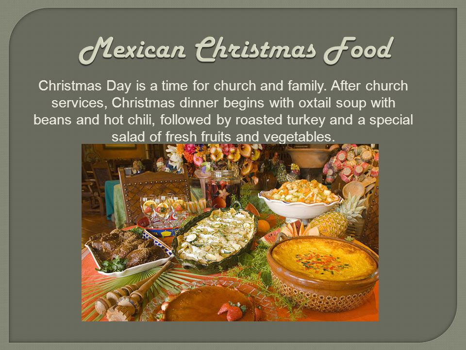 Christmas Mexican Traditions Food