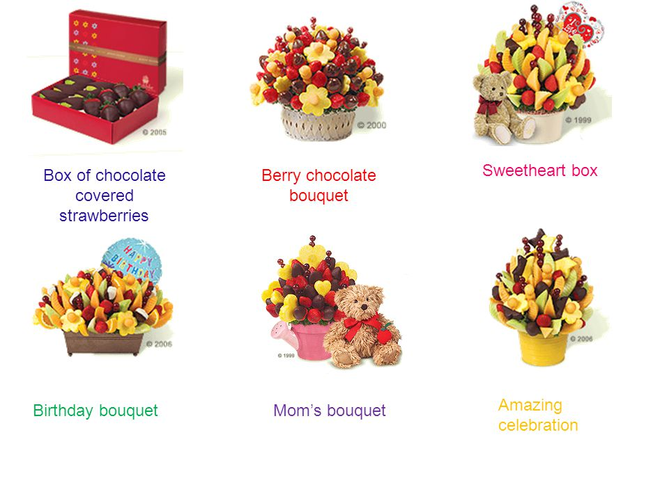 Box of chocolate covered strawberries Berry chocolate bouquet