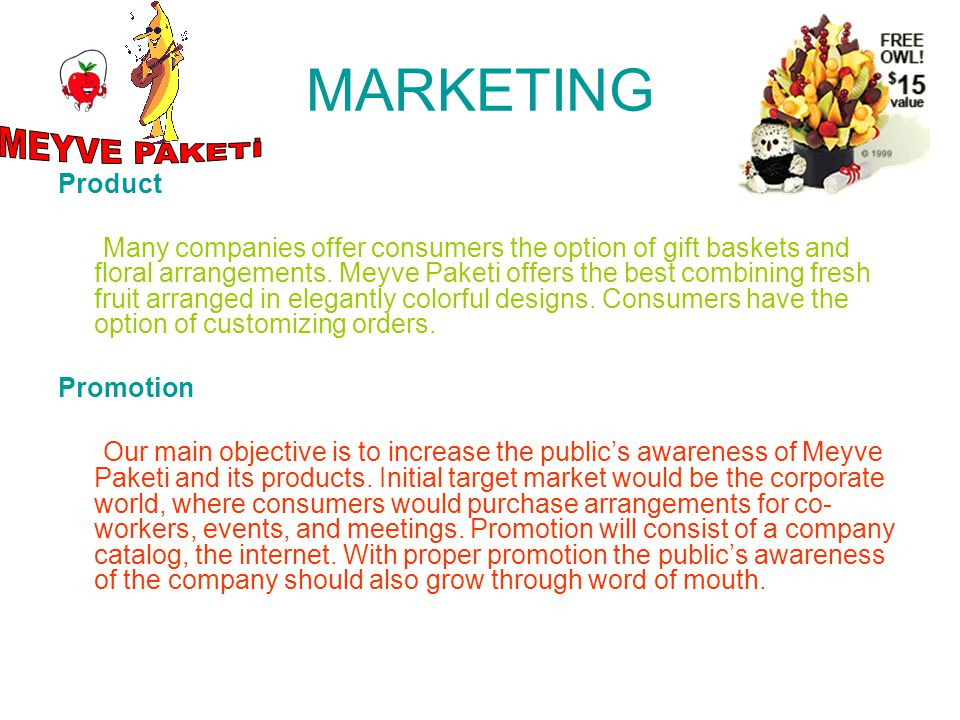 MARKETING MEYVE PAKETİ Product