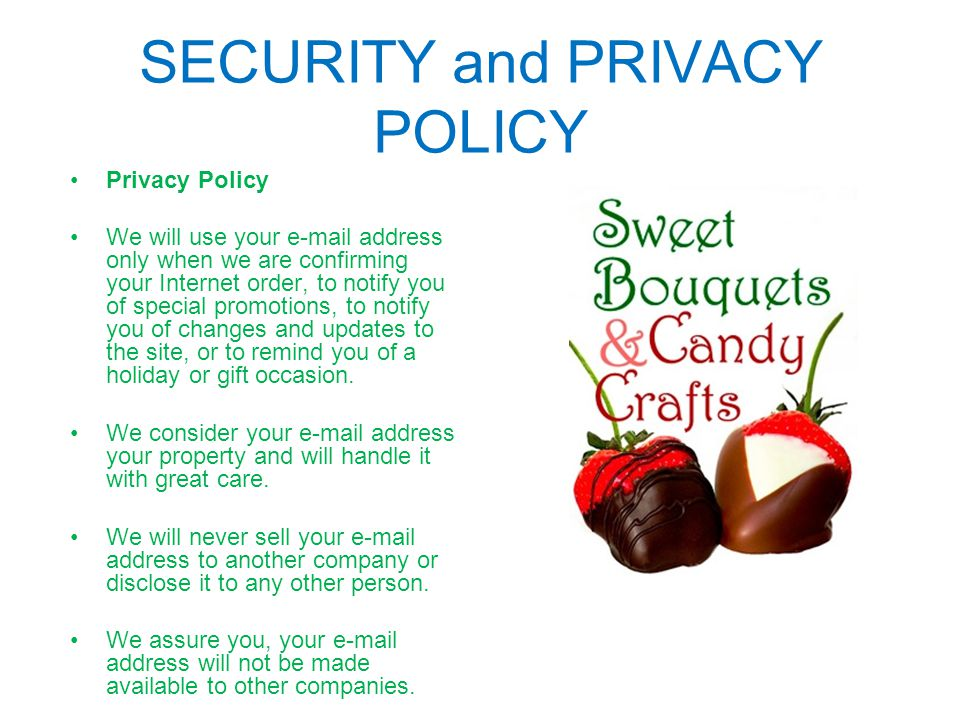 SECURITY and PRIVACY POLICY