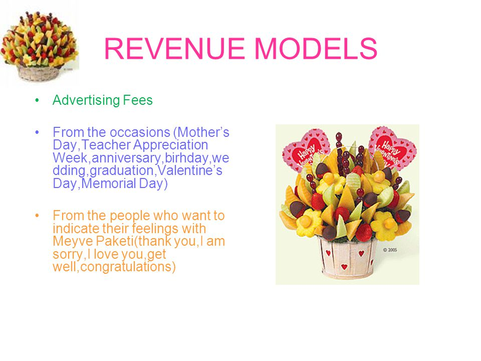 REVENUE MODELS Advertising Fees
