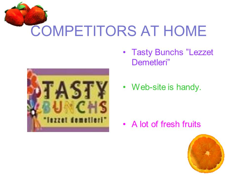 COMPETITORS AT HOME Tasty Bunchs Lezzet Demetleri Web-site is handy.